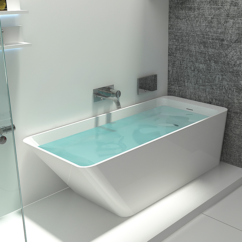 Bellissimo-Best Solid Surface Tub Solid Surface Resin Stone Bathtub Bs-8634 Manufacture