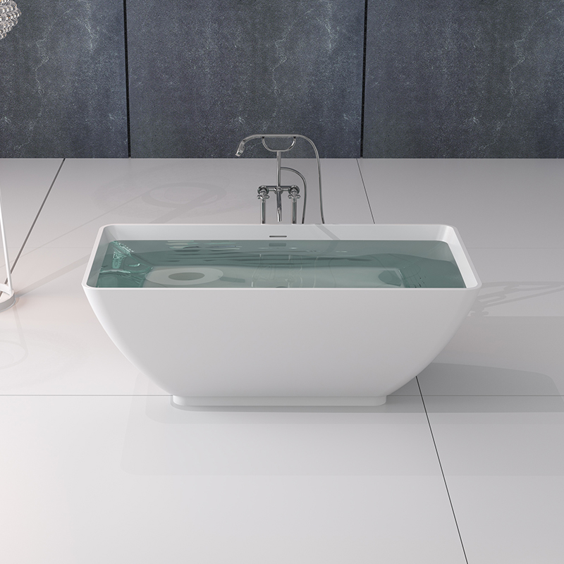 Bellissimo-Solid Surface Tub, Solid Surface Resin Stone Bathtub Bs-8638-1